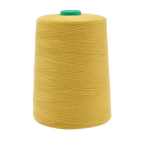 Универсальная швейная нить, 20/3, 3000v, 100% пэ, Bestex (015 т.пастельно-горчичный) фото