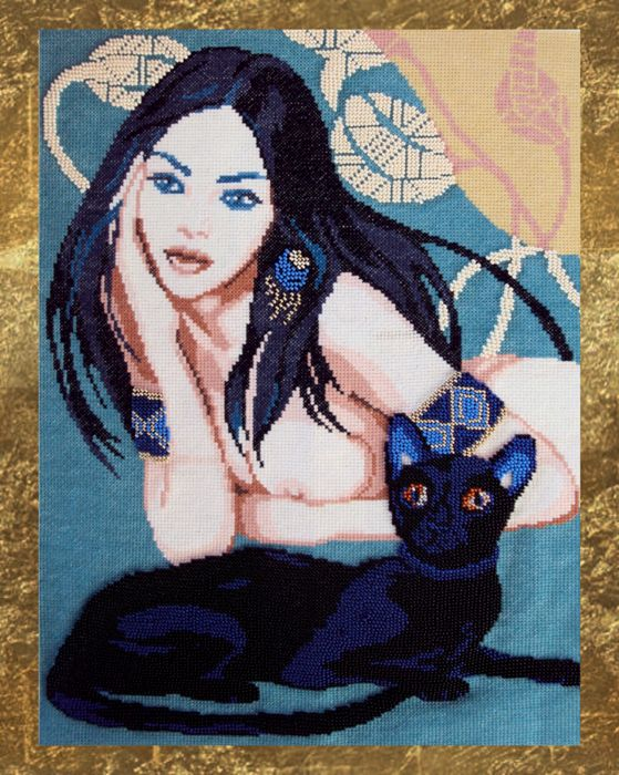 3006 Черная кошка 28х39 см