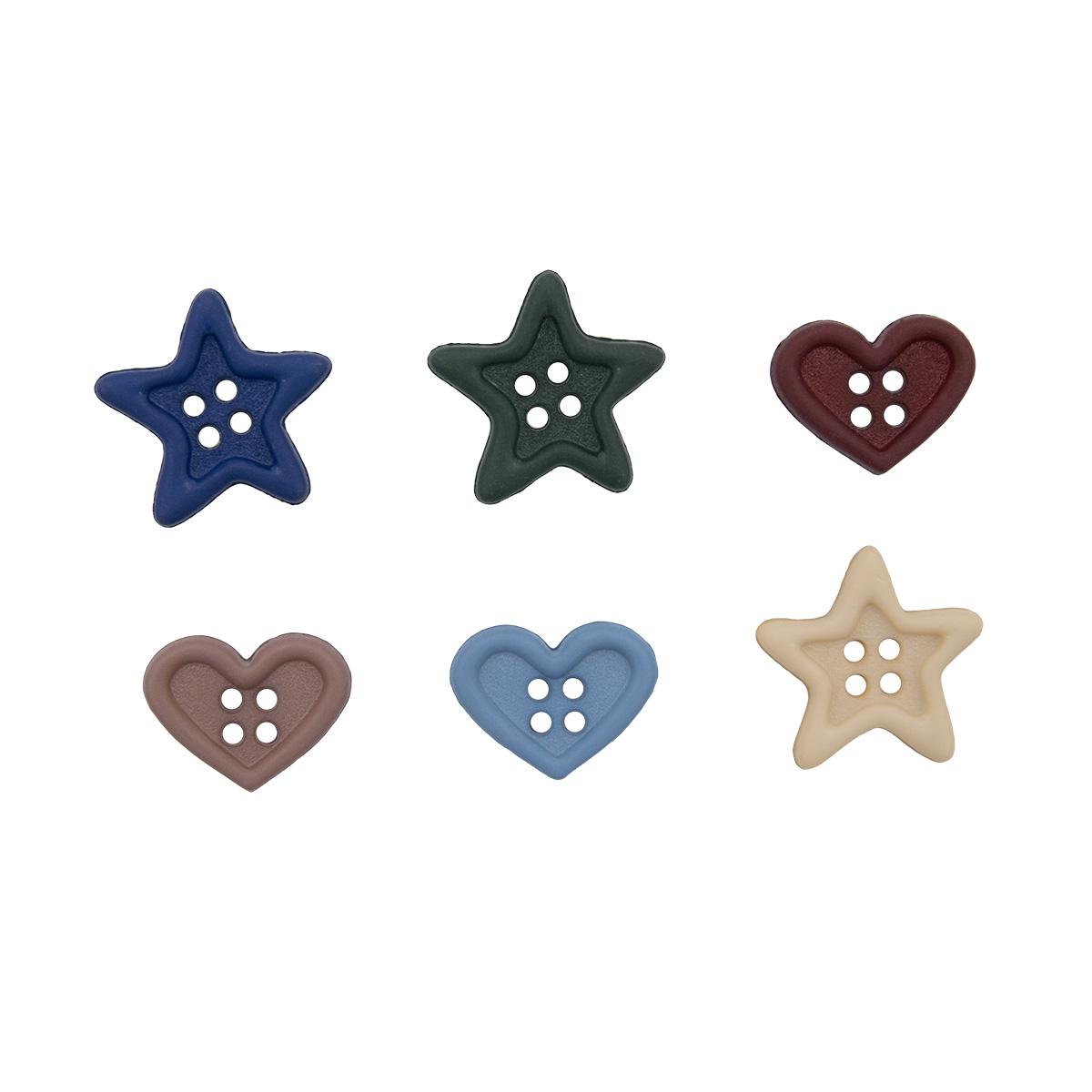4748, Декоративные пуговицы. Сердца и звезды Dress It Up