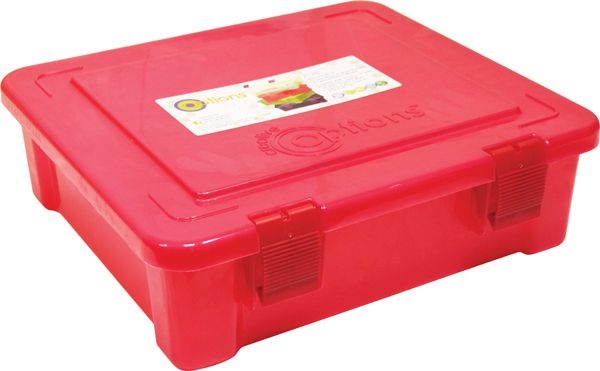 708005 Органайзер для бумаг с защелками, А4, розовый