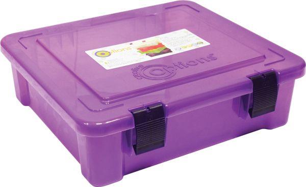 708007 Органайзер для бумаг с защелками, А4, фиолетовый