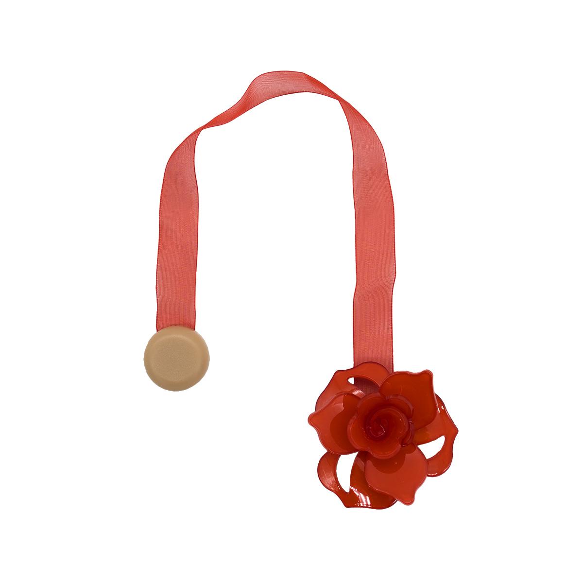 Клипса-магнит PL04 для штор (6 красный)