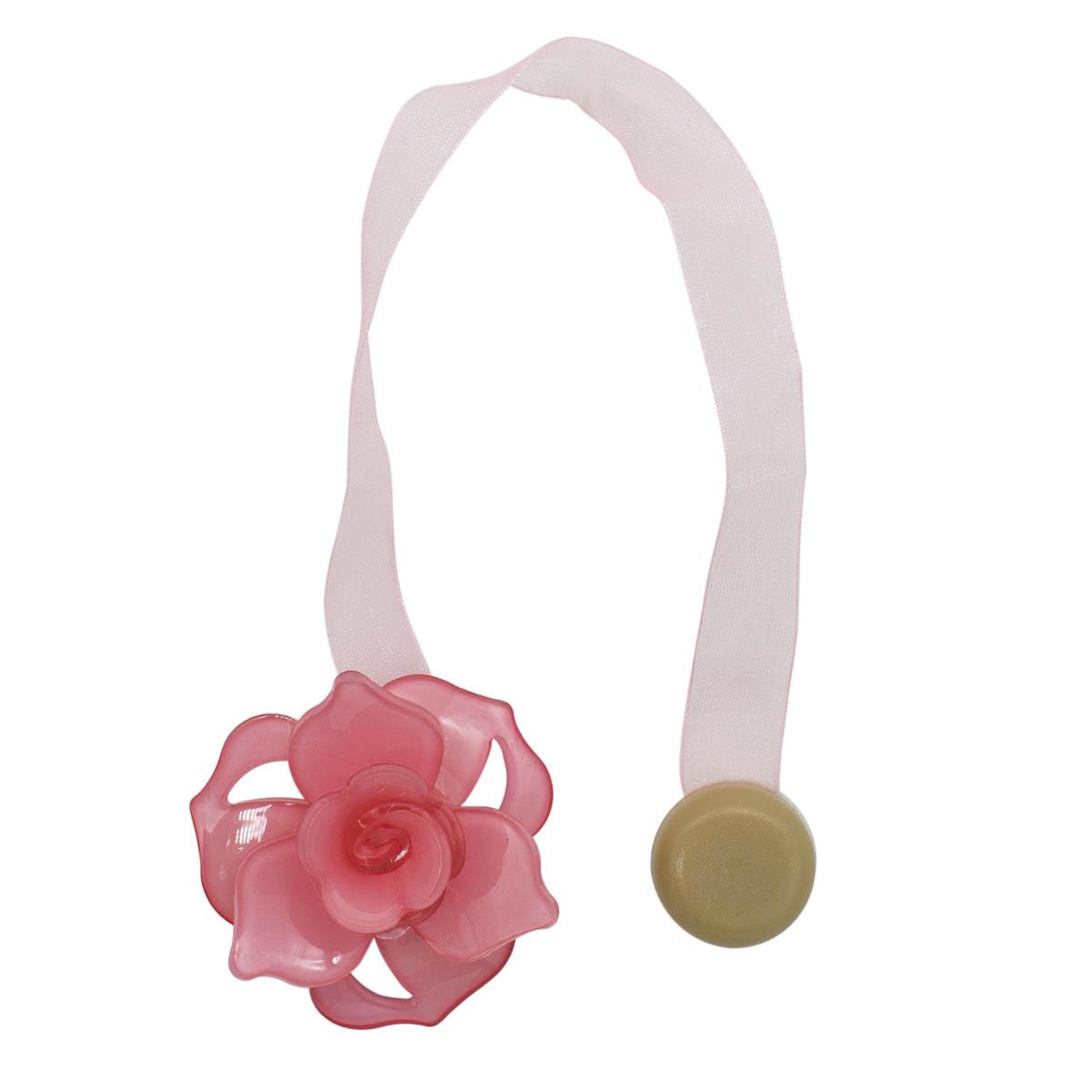 Клипса-магнит PL04 для штор (7 розовый)