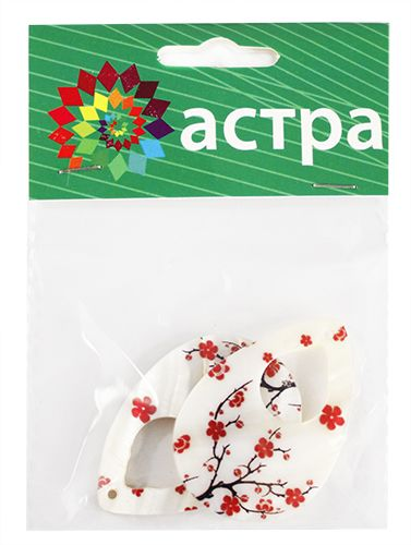 Декоративная подвеска 'Капля', 48*33 мм, упак./2 шт., 'Астра'