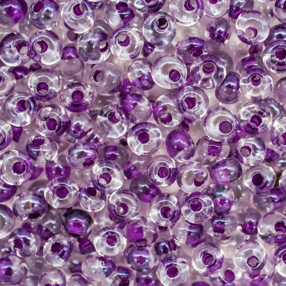 Бисер Drops 5/0 (~4,5мм) (38628) прозрачный с цветным центром, 50гр Preciosa