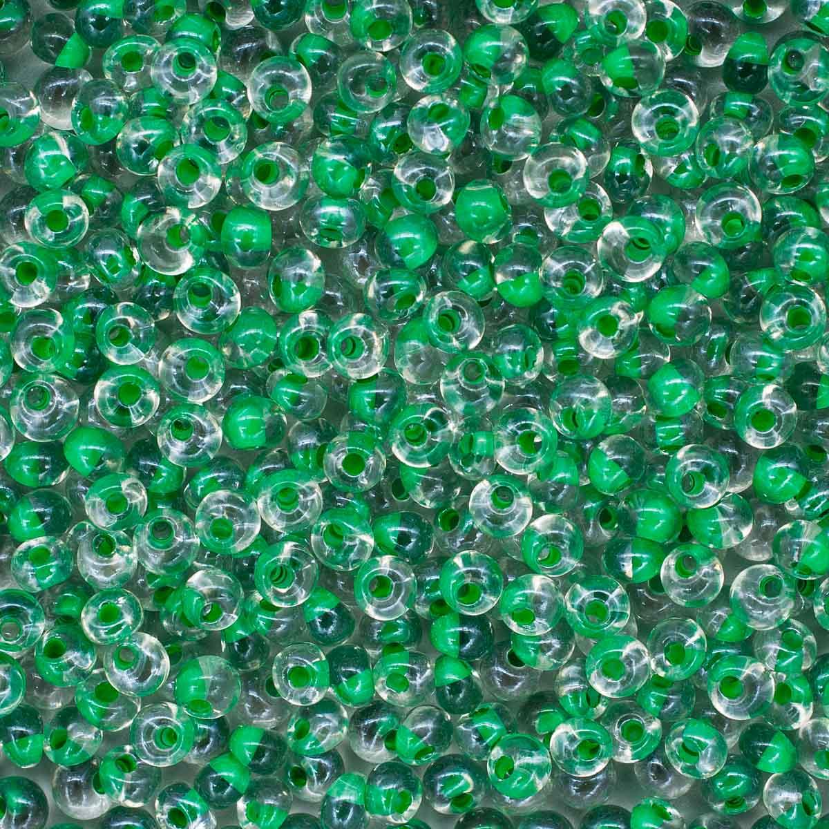 Бисер Drops 5/0 (~4,5мм) (38656) прозрачный с цветным центром, 50гр Preciosa