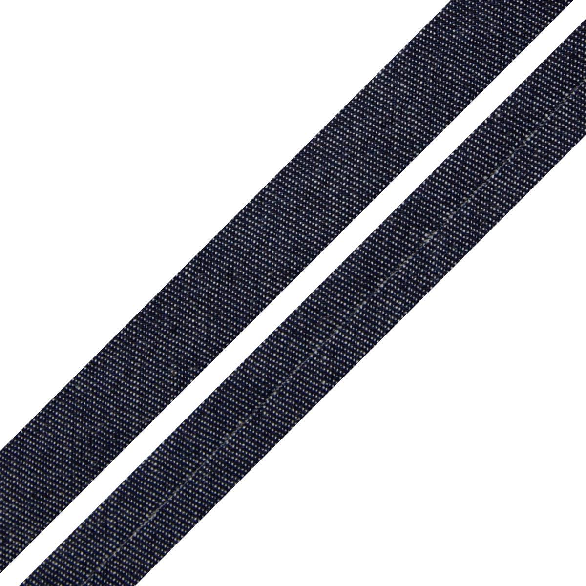 Косая бейка 1,5см джинсовая х/б
