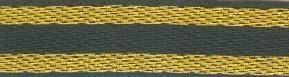 3504 Тесьма жаккардовая, 10 мм*32,8 м, 'Астра' (17D/золото) фото