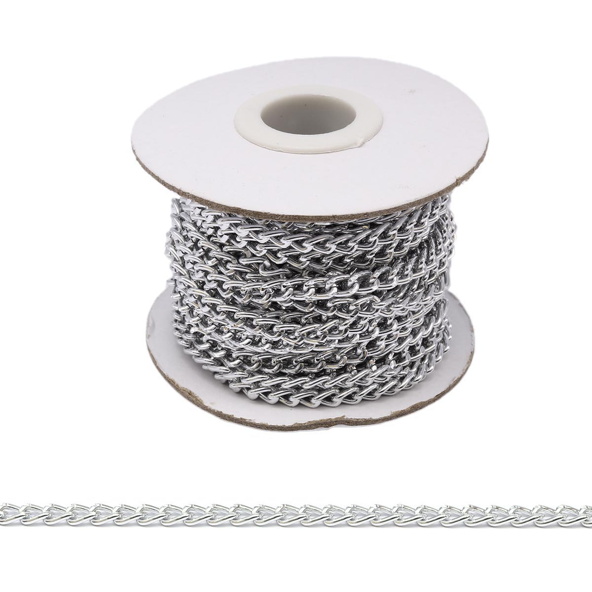 К1804 Цепь алюминиевая, 6,5х4,4 мм (10 м)
