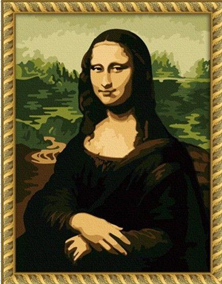 Е036 Набор для раскрашивания по номерам 'Мона Лиза', 30х40см