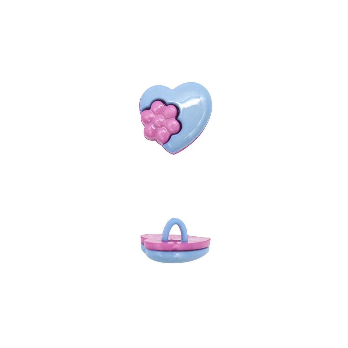 Пуговица, Сердце с цветком (48634) 15мм