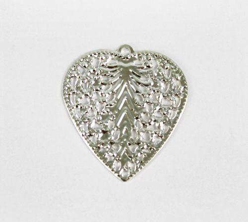 Декоративный элемент 'Сердце', 24*27 мм, упак./5 шт., 'Астра'