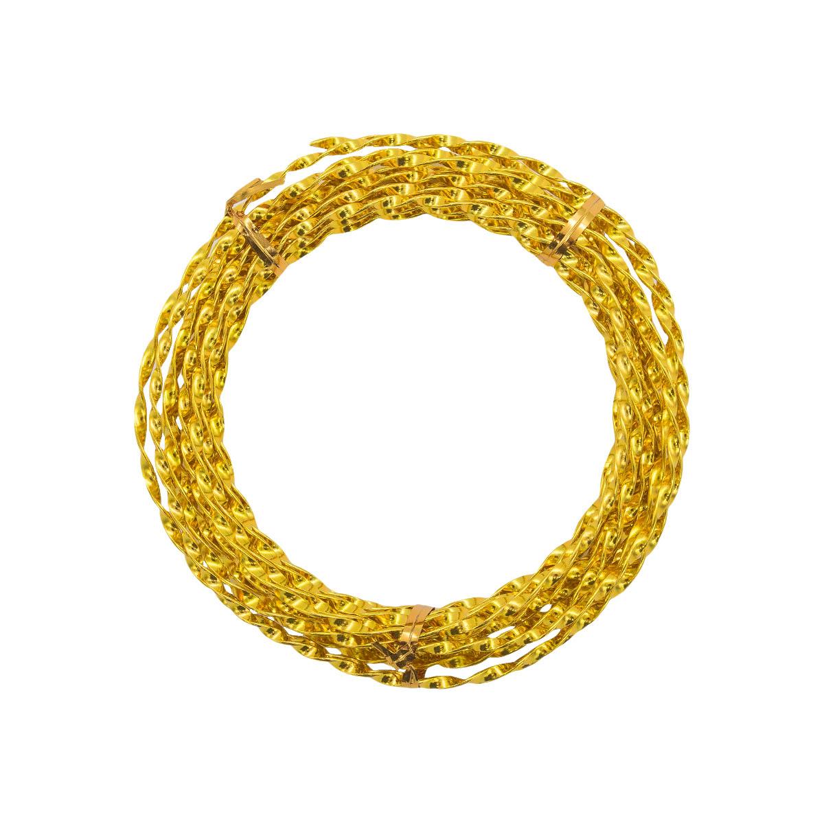 Проволока крученая, 3 мм*5 м, 'Астра' (014 желтый)