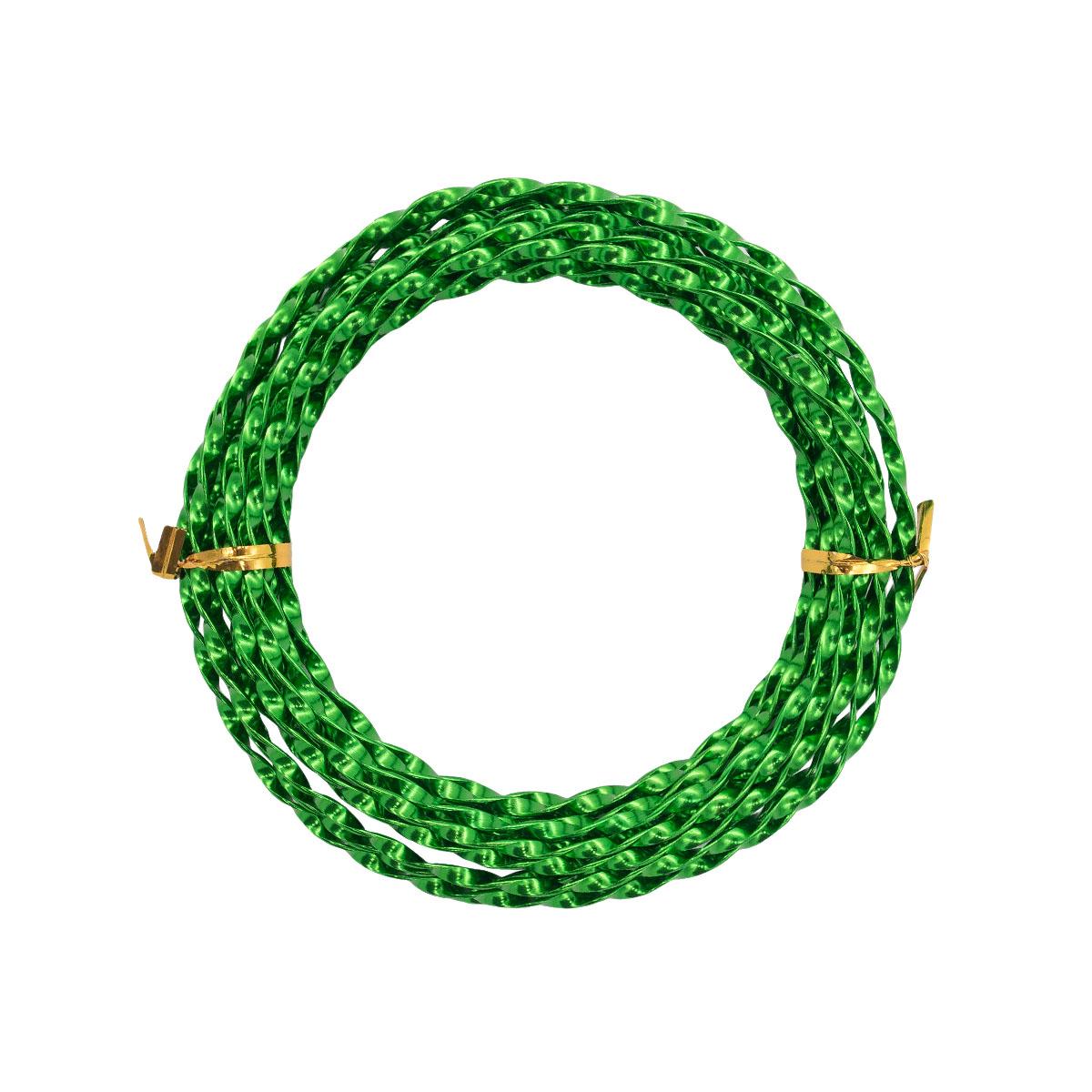 Проволока крученая, 3 мм*5 м, 'Астра' (025 зеленый) фото
