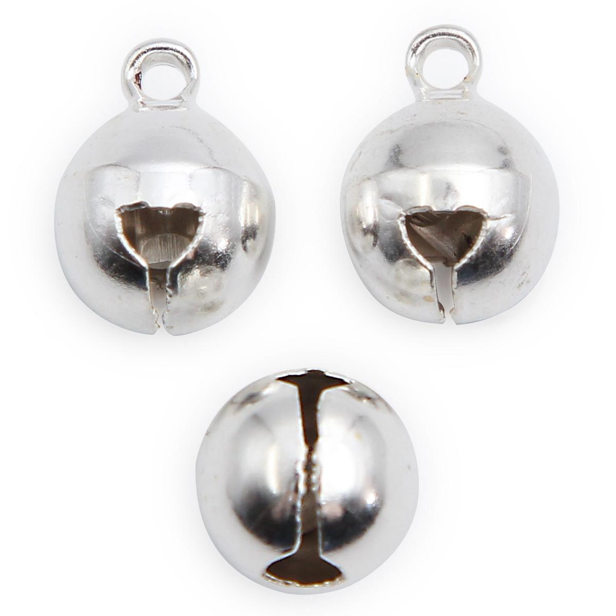 Бубенчик, металл, 10 мм, упак./50 шт., 'Астра' (серебро) фото