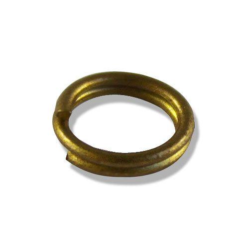 OTH1525 Кольцо для бус, двойное, 0,8*7 мм, упак./100 шт., 'Астра'