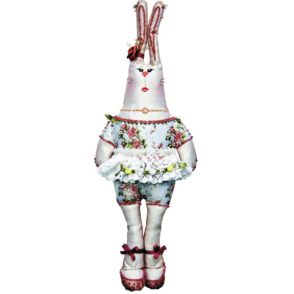 8000 Набор для шитья и вышивания 'Матренин посад' текстильная игрушка 'Зайка прасковья', 47*22 см