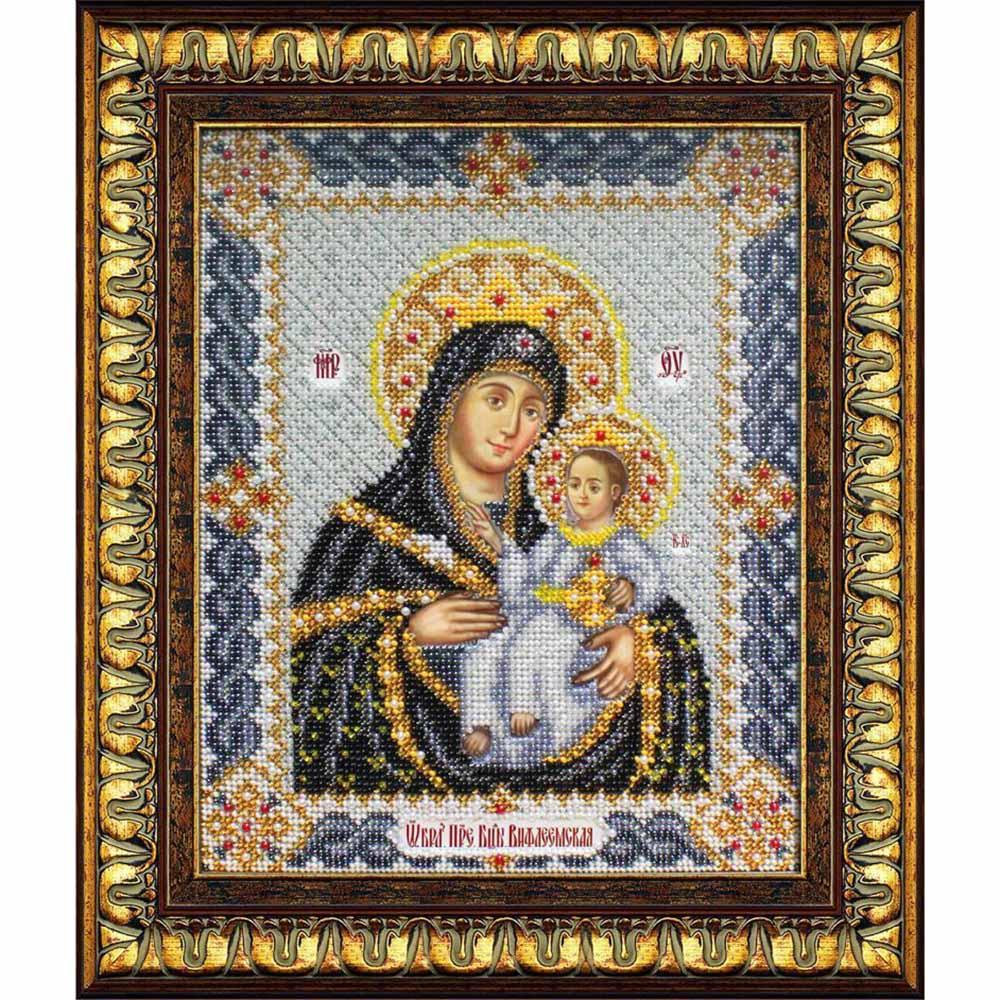 Б1017 Набор для вышивания бисером 'Паутинка' 'Пресвятая Богородица Вифлеемская', 25*19,5 см
