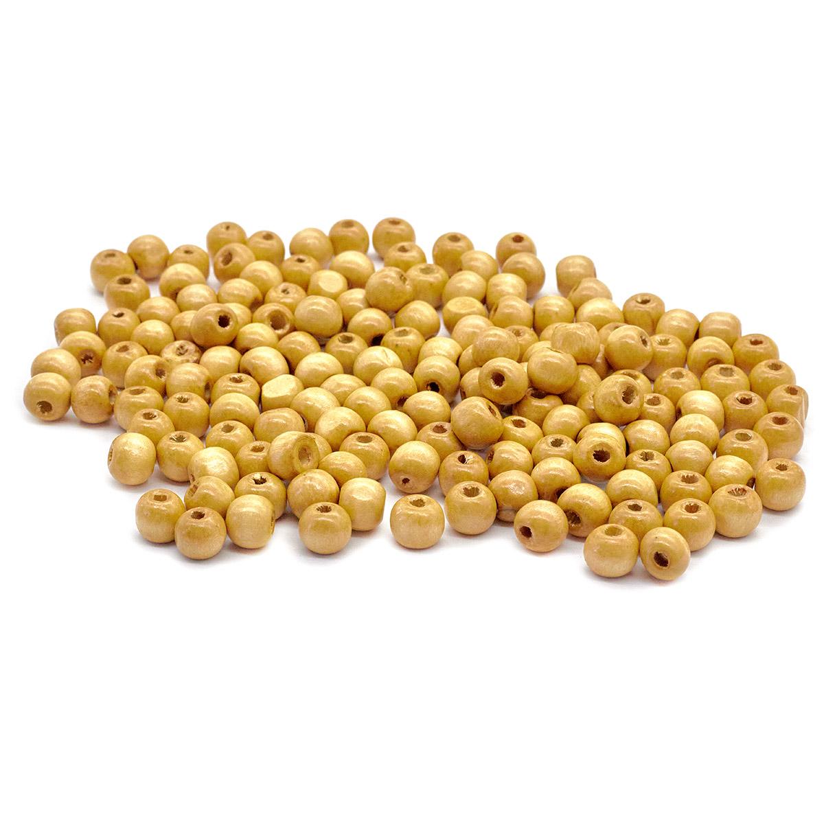 Деревянные бусины круглые, 10 мм, упак./50 гр., 'Астра'