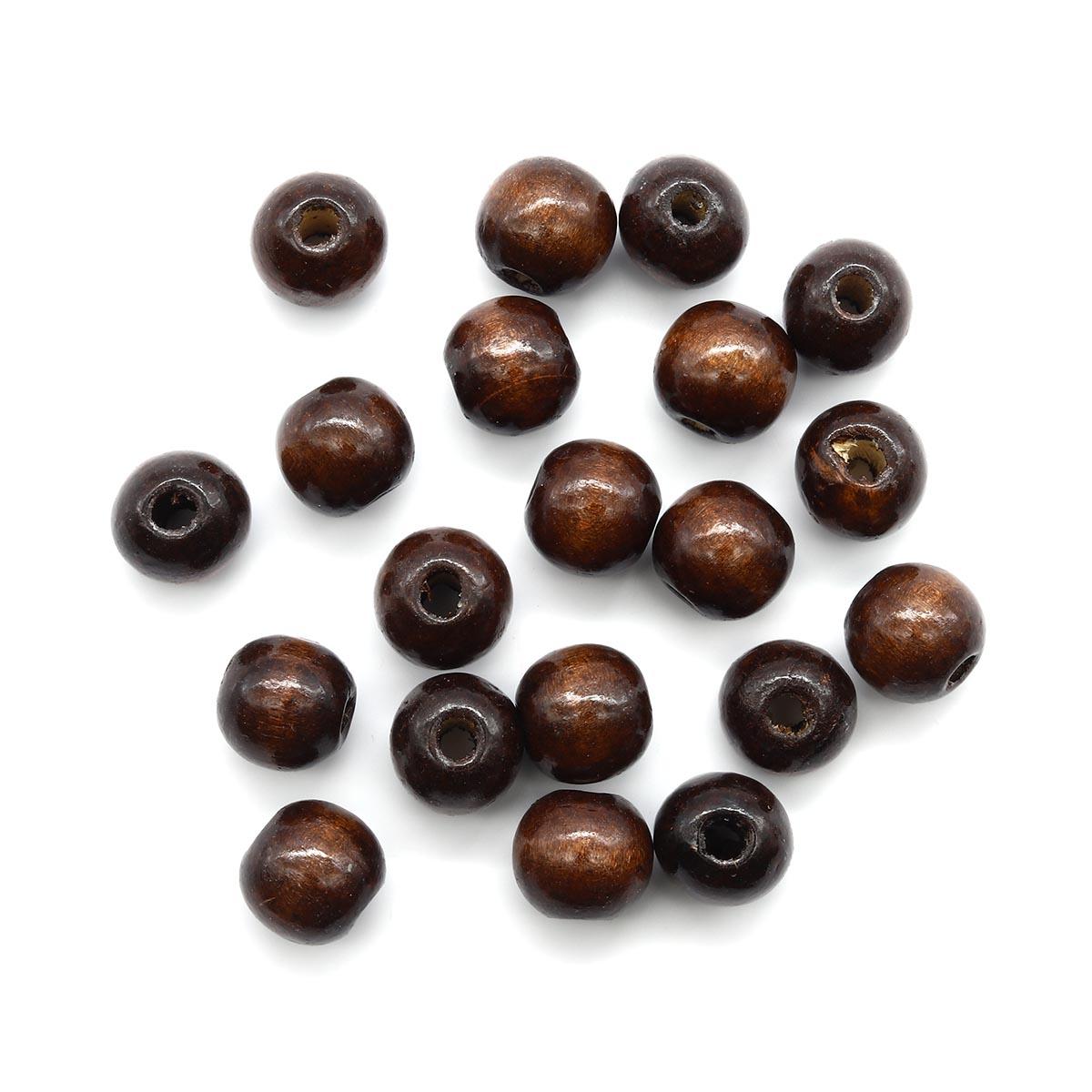 Деревянные бусины круглые, 16 мм, упак./50 гр., 'Астра'