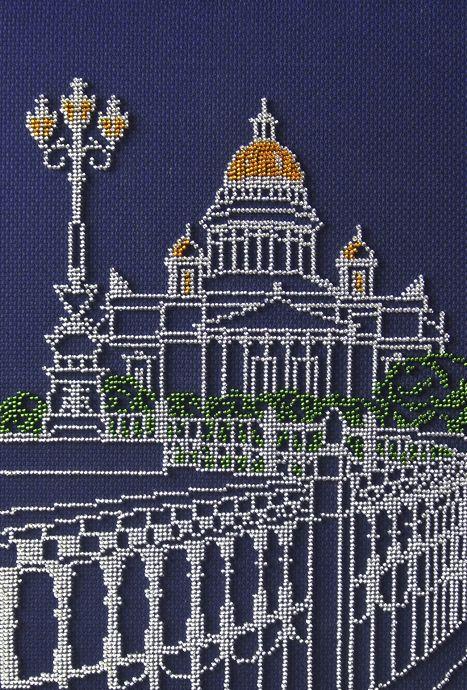 БК- 241 Набор для вышивания бисером 'МП Студия' 'Санкт-Петербург', 30х20 см