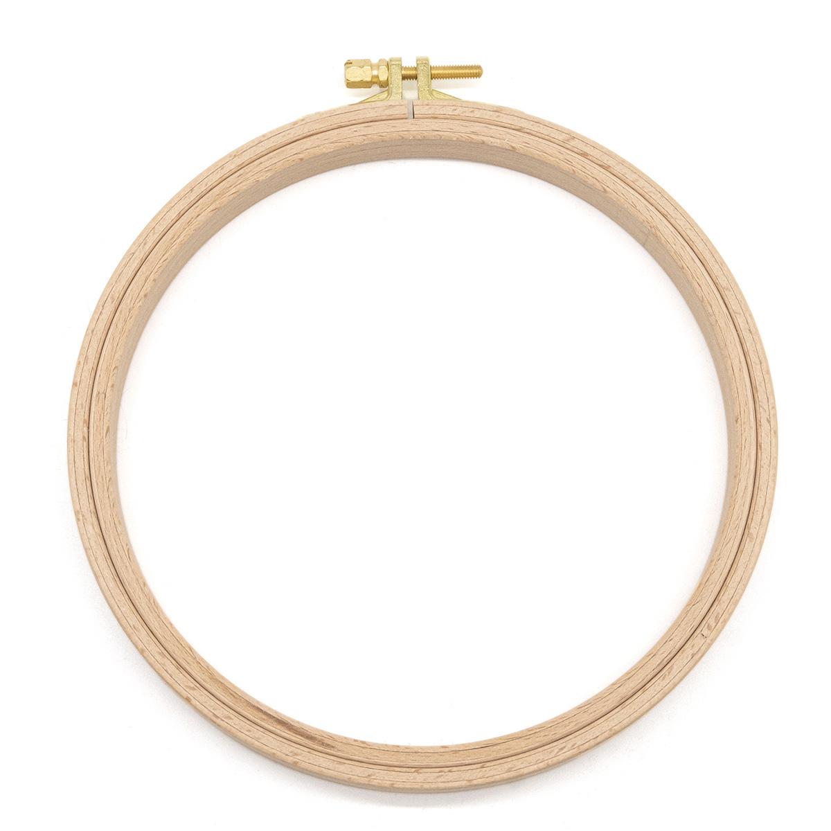 110-3 Пяльцы круглые буковые, d=160 мм, выс. обода 16 мм, Nurge Hobby