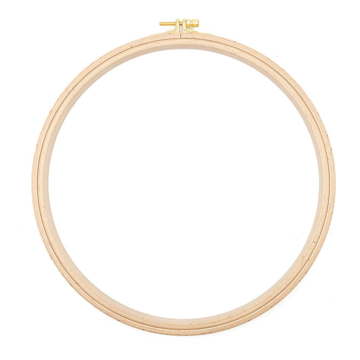 110-6 Пяльцы круглые буковые, d=250 мм, выс. обода 16 мм, Nurge Hobby