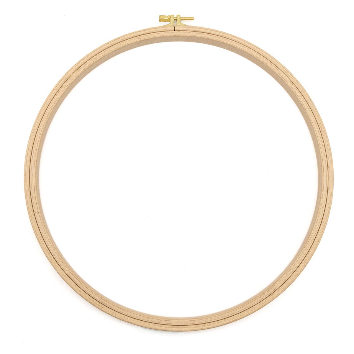 110-7 Пяльцы круглые буковые, d=280 мм, выс. обода 16 мм, Nurge Hobby
