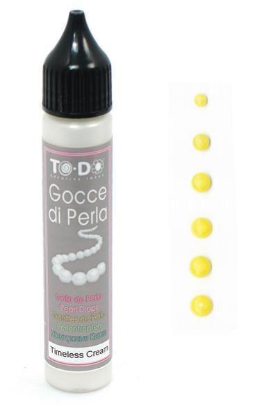 83341 Жемчужный маркер Gocce di Perla, пастельный желтый, 25 мл TO-DO