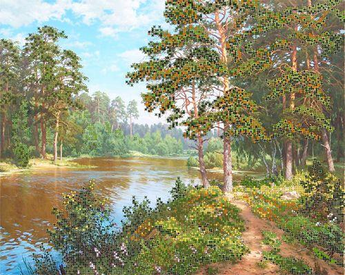 51066 Набор для вышивания бисером Astrea 'Река в лесу', 40х32 см