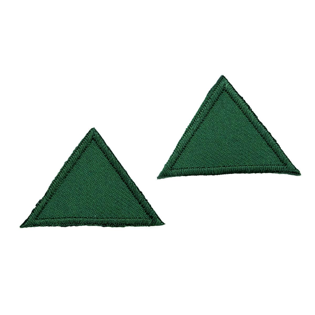 925281 Термоаппликация Треугольник, зеленый, темный цв. Prym