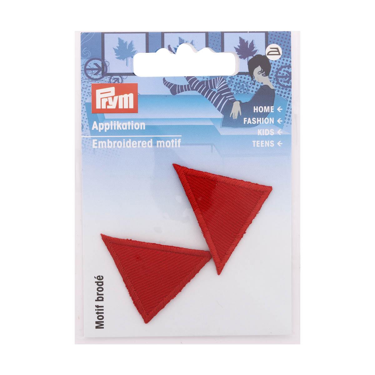 925278 Термоаппликация Треугольник, красный цв. Prym
