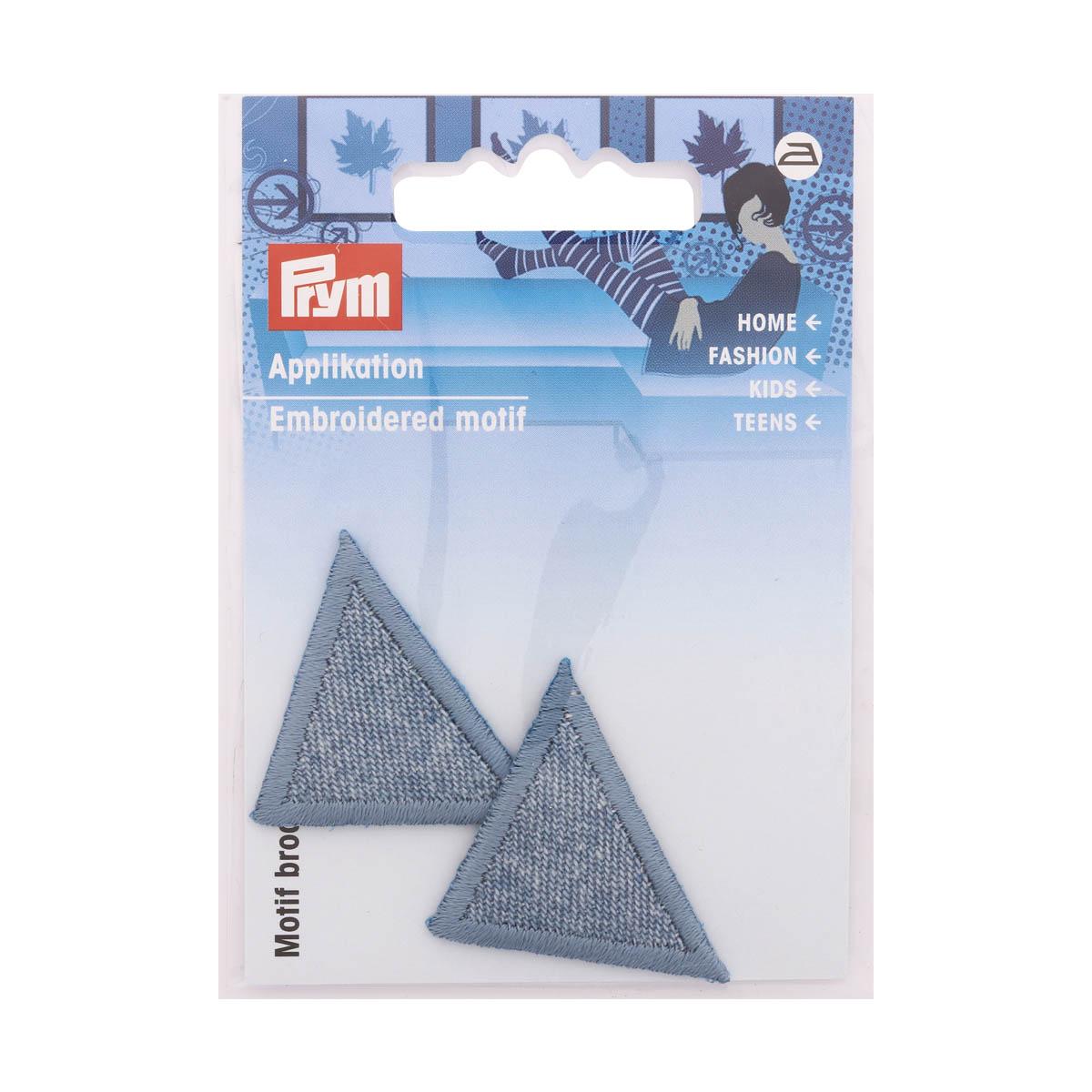 925283 Термоаппликация Треугольник, светлая джинса Prym
