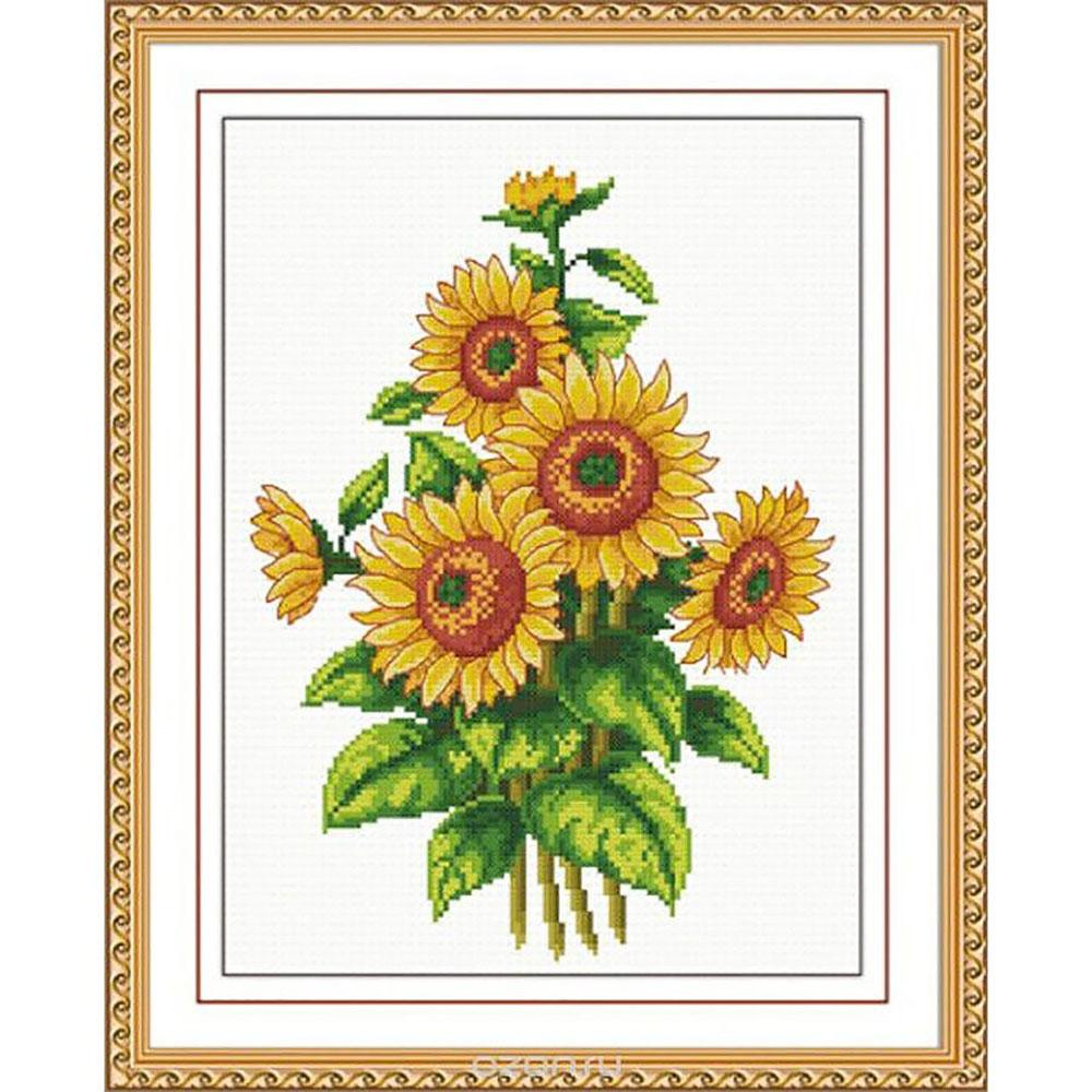 "Набор для вышивания крестом S-019 ""Цветы солнца"", 20х27 см, Hobby&Pro"