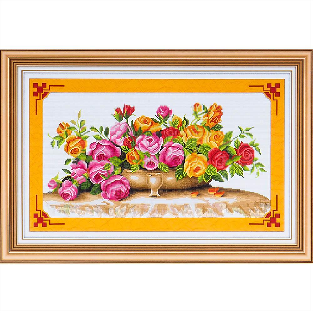 S-020 Набор для вышивания крестом Hobby&Pro 'Облако роз', 43*22 см