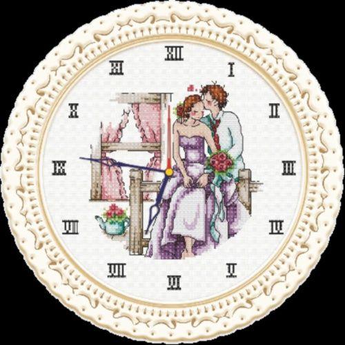 S-039 Набор для вышивания Hobby&Pro 'Часы любви', 22*22 см