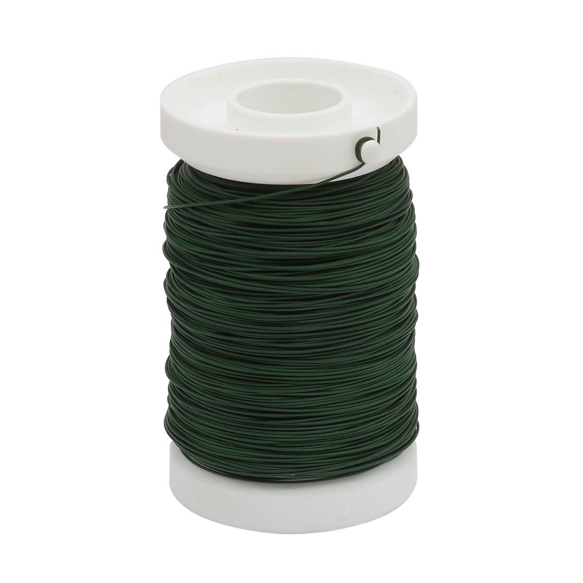 62220060 Проволока для флористики на катушке, диам. 0,35мм, цв. зеленый цв., 100м Glorex