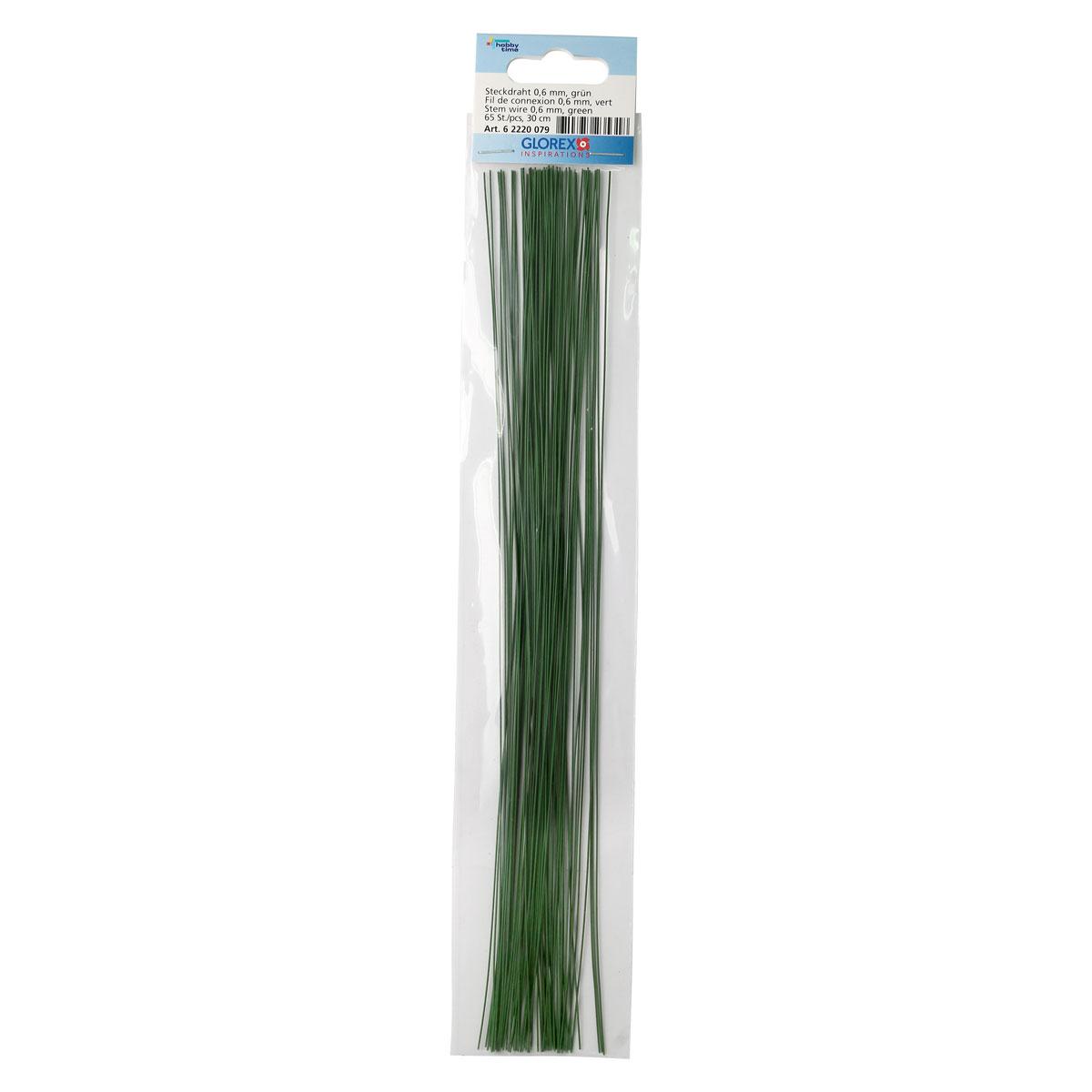62220079 Проволока, зеленый цв. 0,60мм, 30см, 65шт Glorex