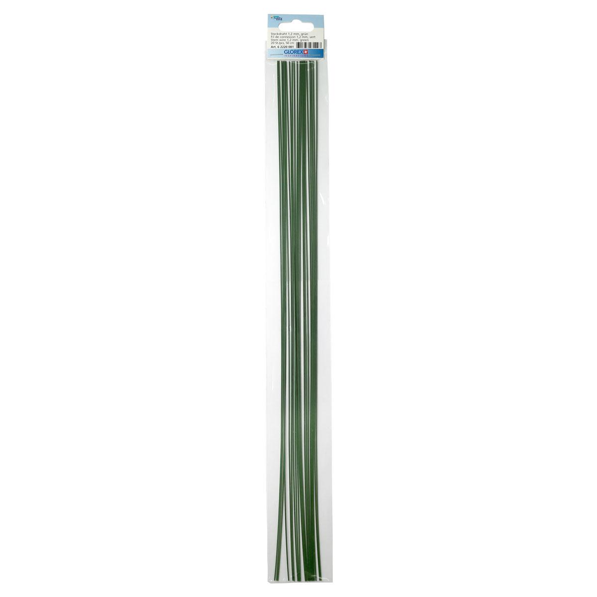 62220081 Проволока, зеленый цв. 1,20мм, 50см, 20шт Glorex