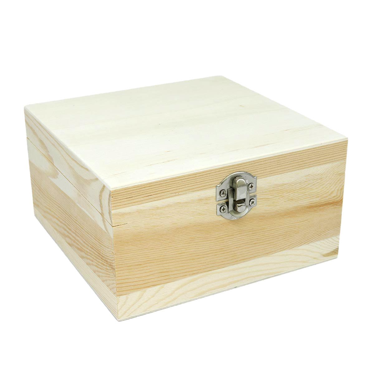 61682103 Деревянная шкатулка, 16*16*8,5 см, Glorex