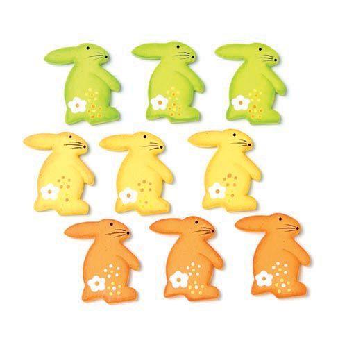 61710015 Фигурки из дерева 'Кролики', 30 мм, упак./9 шт., Glorex