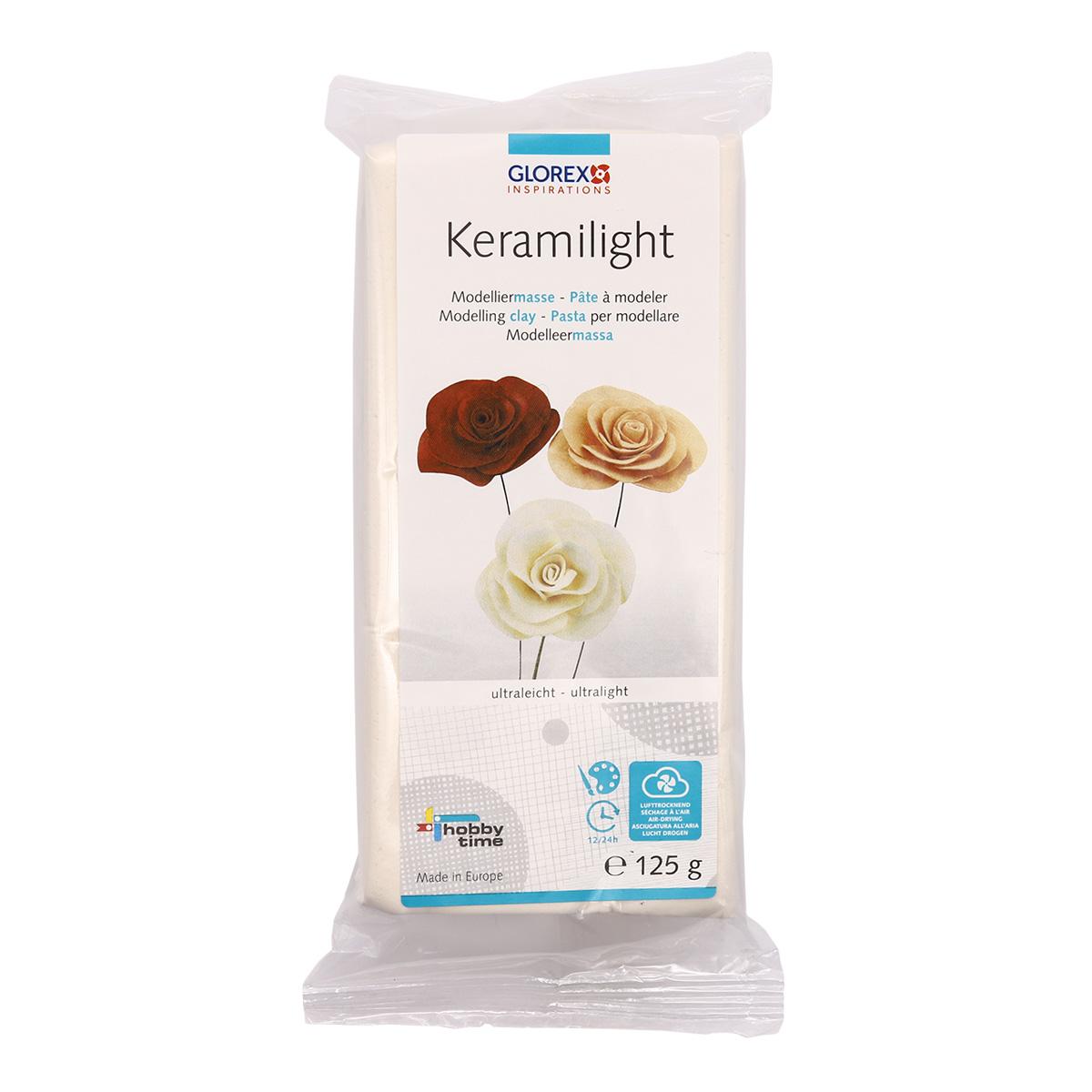 68070502 Пластика для цветов очень легкая Keramilight, белый цв., 125г Glorex