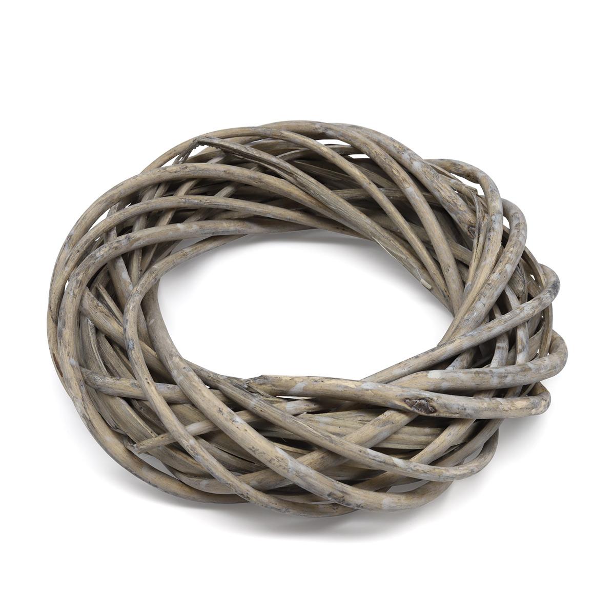 67026062 Венок из ивовых прутьев, серый, d 20см Glorex