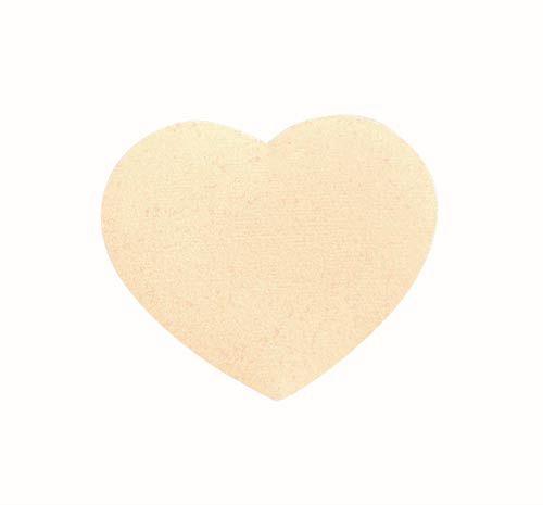 61212851 Сердца бархатные, кремовый Glorex