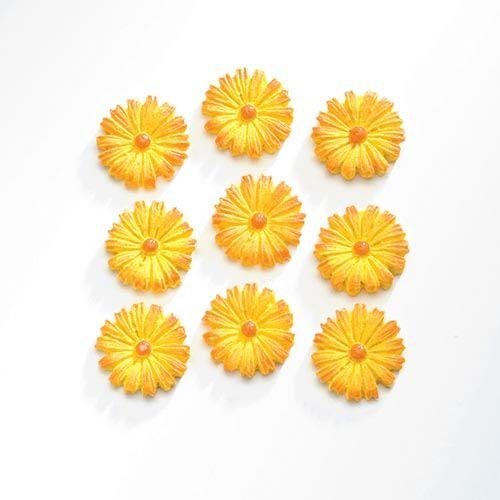 63805400 Цветы (полирезин), желтый, упак./9 шт., Glorex