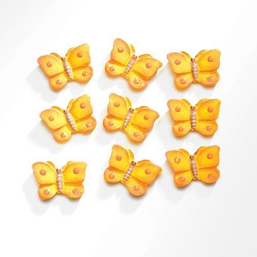 63805420 Декоративный элемент 'Бабочки', (полирезин), желтый, 2*1,5 см, упак./9 шт., Glorex
