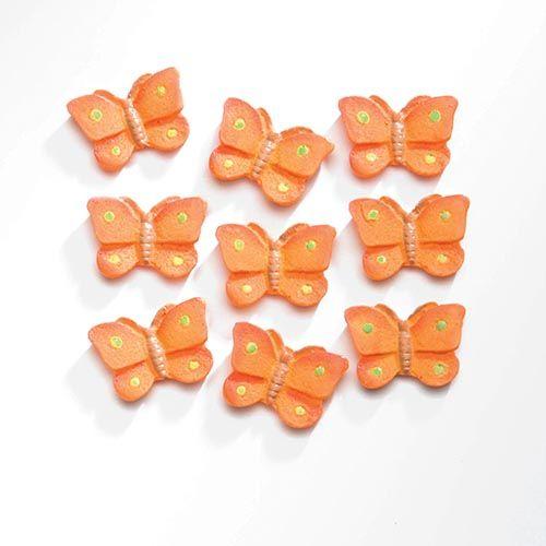63805421 Декоративный элемент 'Бабочки', (полирезин), оранжевый, 2*1,5 см, упак./9 шт., Glorex