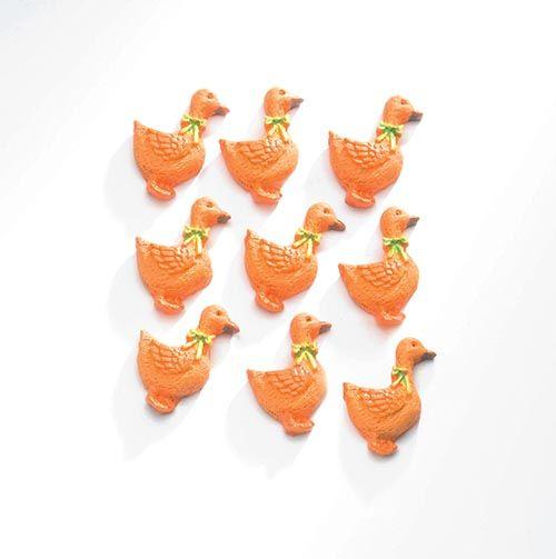 63805431 Декоративный элемент 'Утки', (полирезин), оранжевый, 2,5*1,5 см, упак./9 шт., Glorex