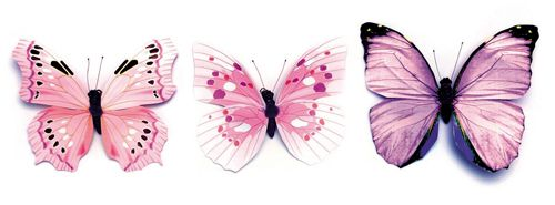 67101012 Бабочки, ассорти, упак./1 шт., Glorex
