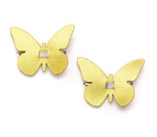 67101101 Бабочки с клипсой, 4см, желтый Glorex